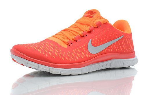 Nike Free Run 3.0 V4 Mens Pimento Reflective Silver Total Orange